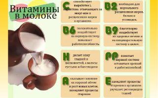 Витамины в молоке
