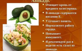 Витамины в авокадо