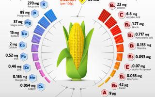 Витамины в кукурузе