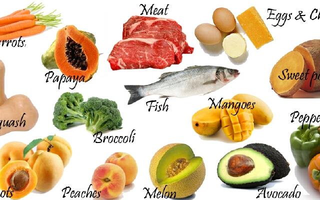 В каких продуктах содержится витамин А в большом количестве: таблица