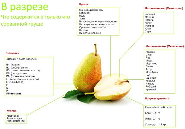 Витамины в груше - Азбука витаминов