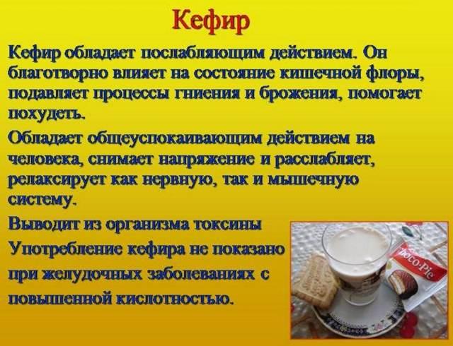 Кефир – польза и вред для организма, химический состав