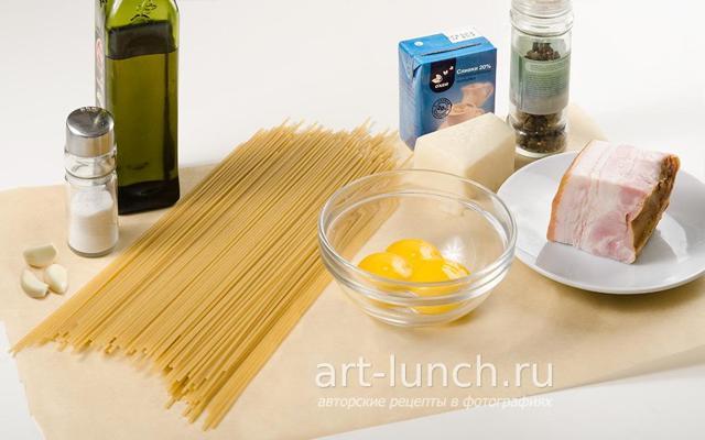 Карбонара с беконом и сливками — рецепт пошагово с фото